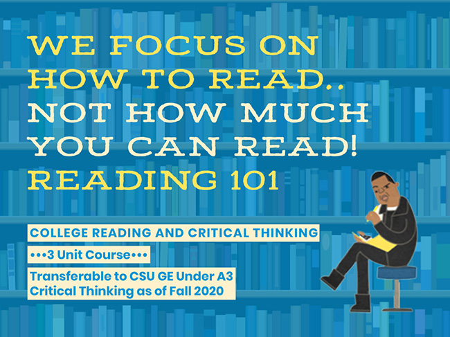 We Focus on how to read. Not how much you can read! READING 101.