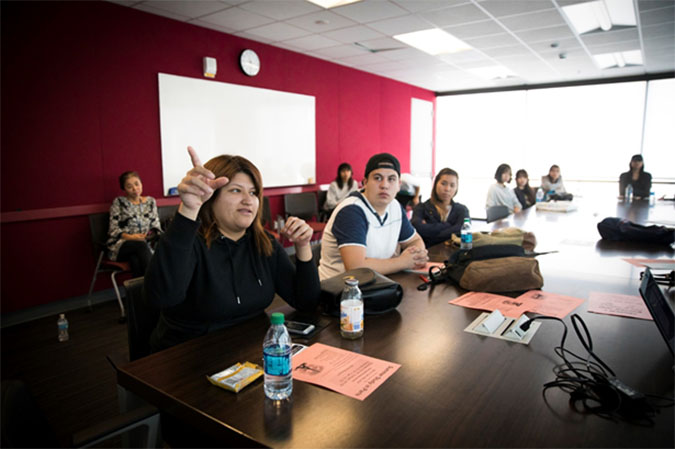 ELAC Students in Conference Room