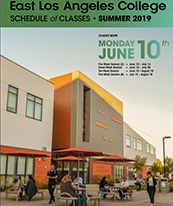 Coverpage of ELAC Summer 2019 Schedule of Classes