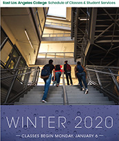 Coverpage of ELAC WINTER 2020 Schedule of Classes