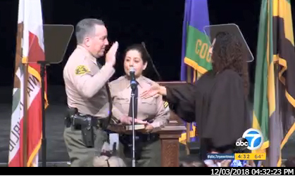 Inauguration of LA County Sheriff Alex Villanueva