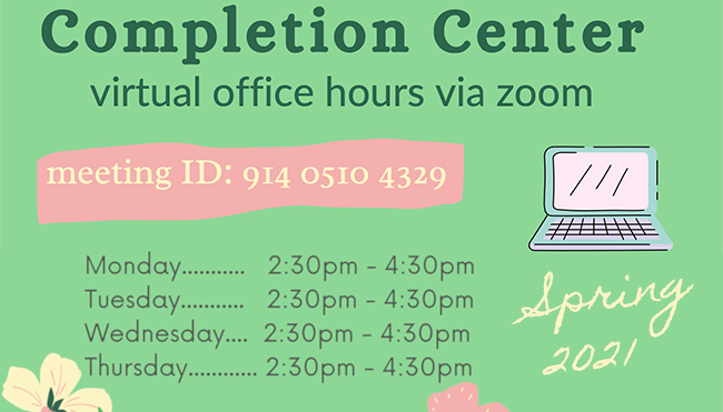 ELAC Completion Center Office Hours Flyer