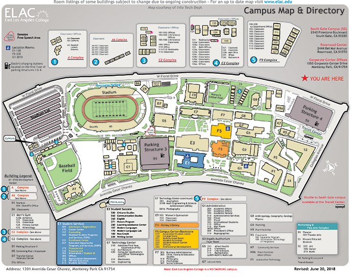 Campus Map Updated June 26th, 2013