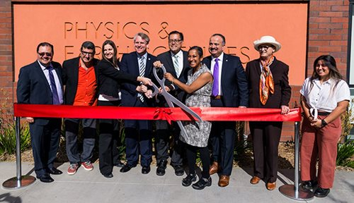 ELAC Ribbon Cutting Ceremony for Physics and Earth Sciences Building.